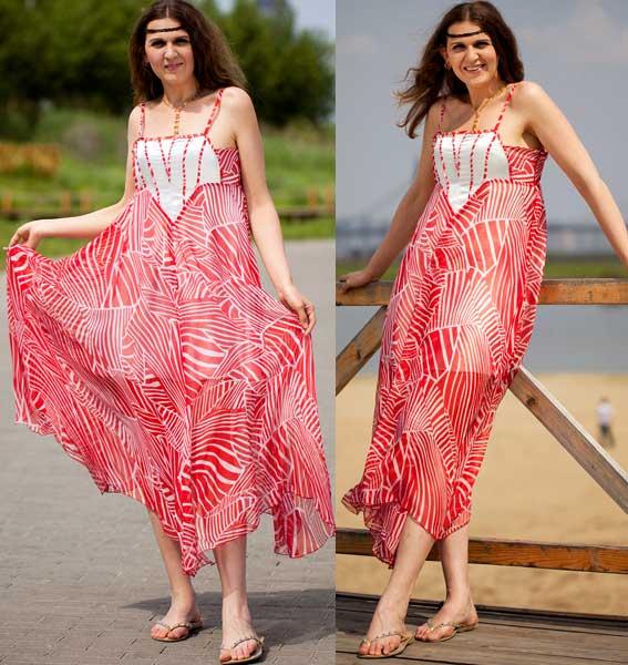 Яркие платья туники сарафаны 111