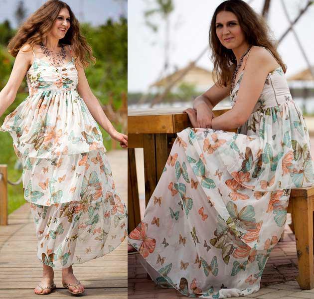 Яркие платья туники сарафаны 75